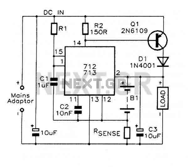 Fast charge Controller with MAX712 / MAX713 under Battery