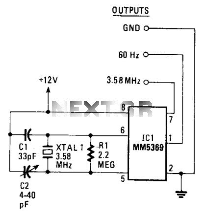 60Hz pulse generator under Square Wave Oscillator Circuits