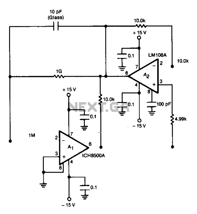 Electrometer amplifier with overload protection : Meters