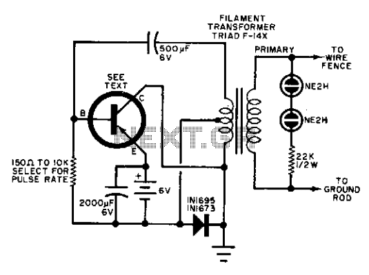 electric fence circuit diagram diy light wiring diagrams charger free for you security u003e various circuits l12018 next gr rh