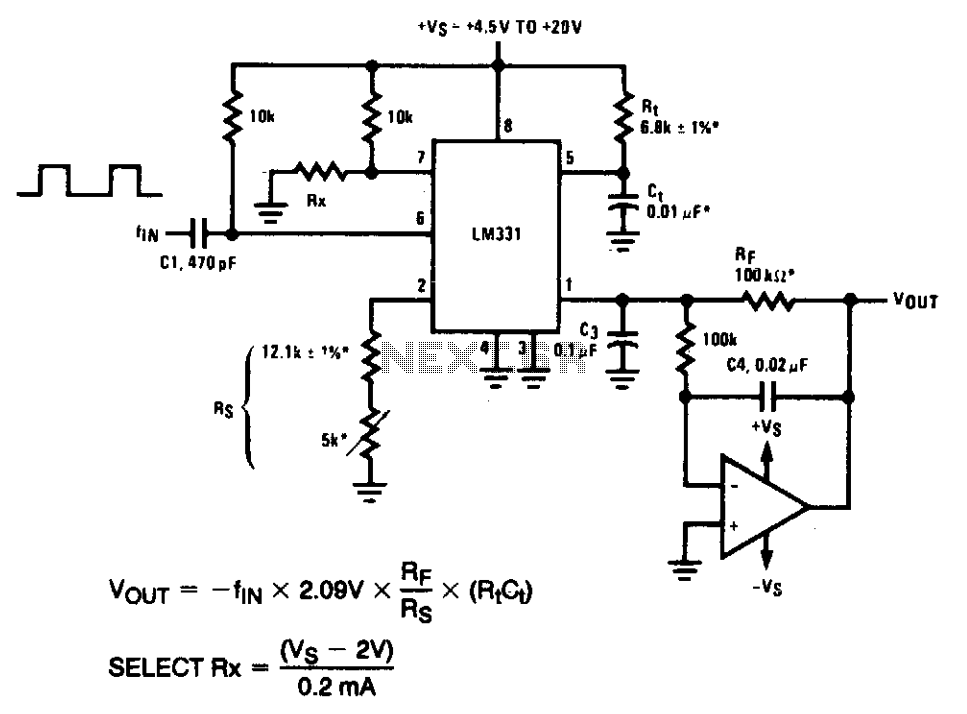 > converters > frequency to voltage > precision frequency