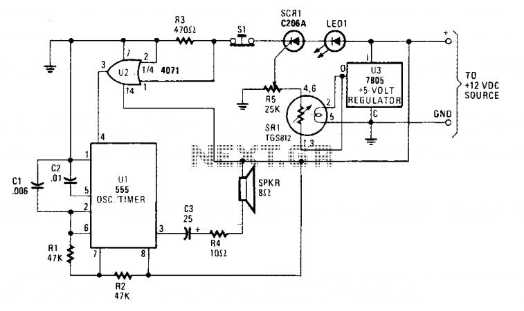 gas sensor circuit : Sensors Detectors Circuits :: Next.gr