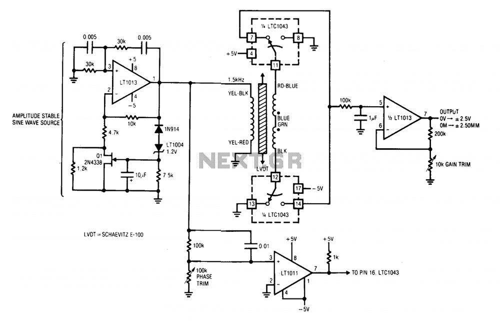 Linear transformer signal conditioner under Wein Bridge