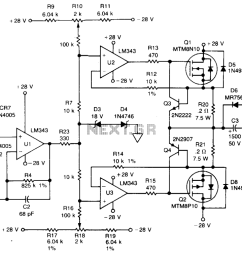 automations u003e servo circuits u003e 400 hz servo amplifier l12186 next gr power line amplifier circuit servo amplifier schematic [ 1290 x 767 Pixel ]