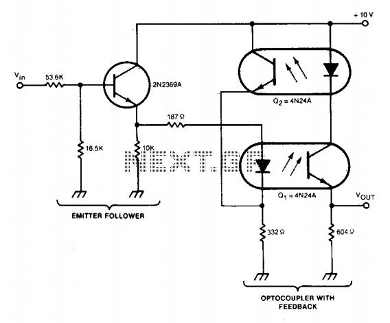 linear optocoupler circuit