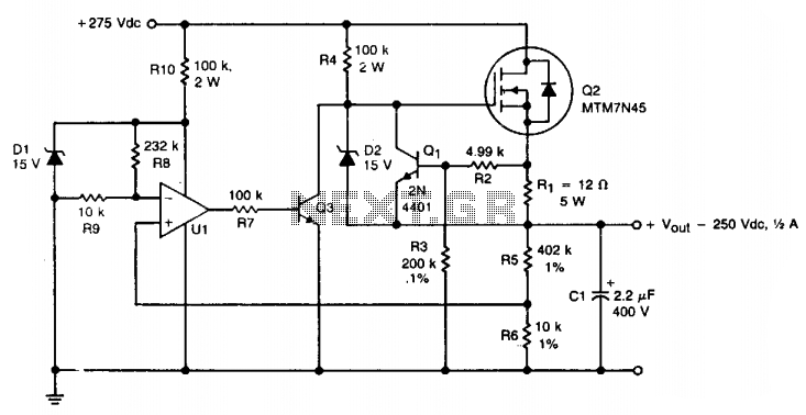 HV regulator with foldback current limiting under High