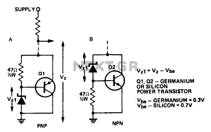 Increasing the power rating of zener diodes : High Voltage