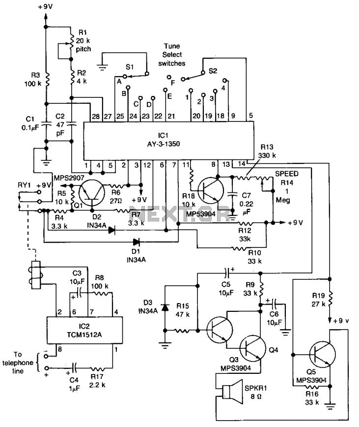telephone ringer circuit : Telephone Circuits :: Next.gr