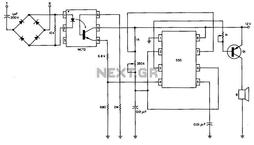 telephone ringer circuit : Telephone Circuits :: Next.gr