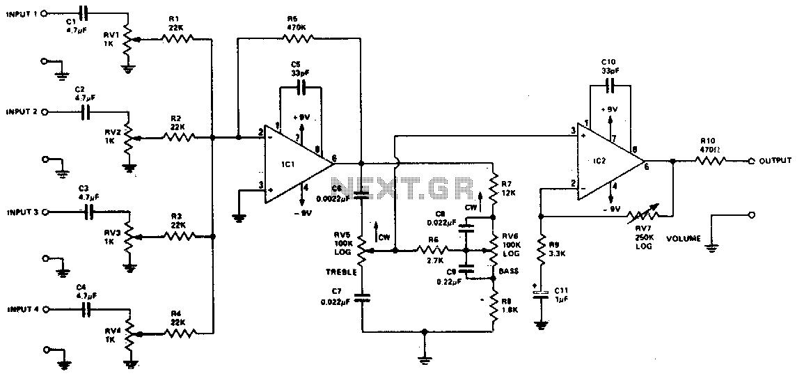 audio mixer circuit : Audio Circuits :: Next.gr