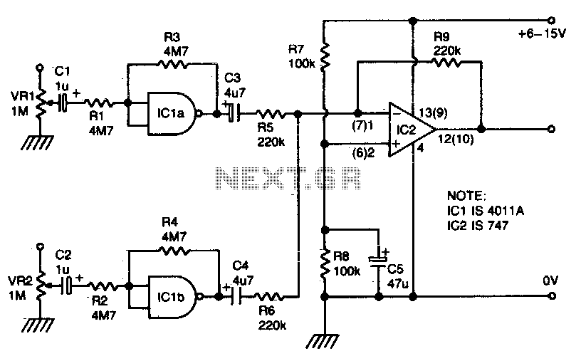 audio mixer circuit : Audio Circuits :: Next.gr