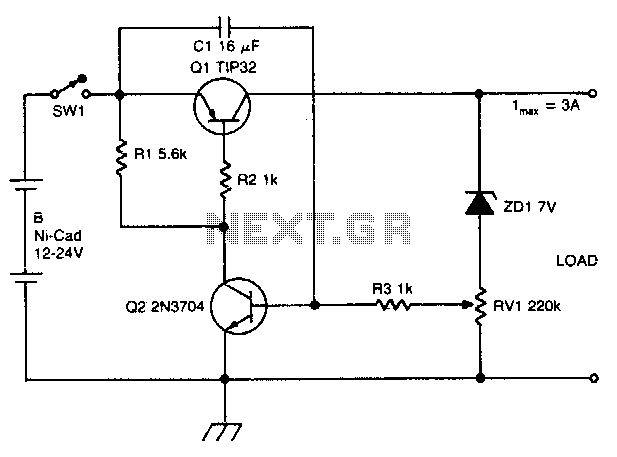 Ni-cad discharge limiter under Battery Charger Circuits