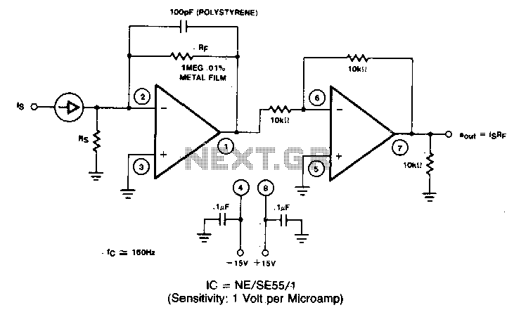 current to voltage converter op amp circuit