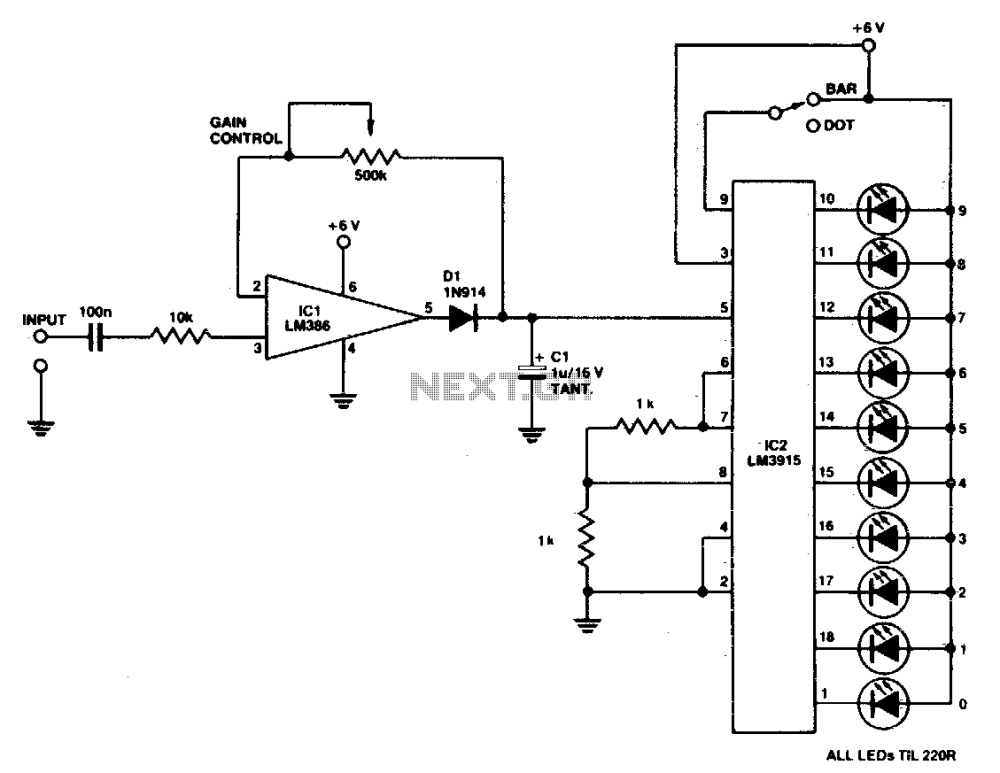 medium resolution of lightmeterwithledreadout basiccircuit circuit diagram wiring stereo led vu meter circuit diagram tradeoficcom