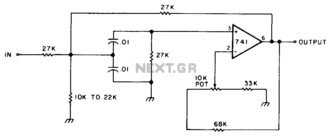 active bandpass filter circuit