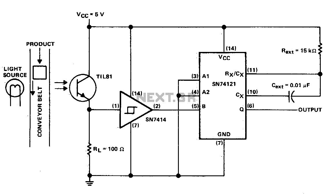 light sensor circuit : Light Laser LED Circuits :: Next.gr