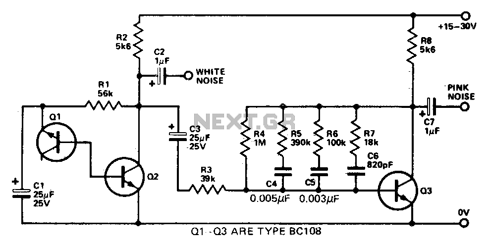 Audio noise generator under Musical & Effects Circuits
