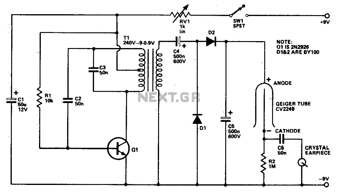 sensor radiation circuit sensors detectors circuits nextgr