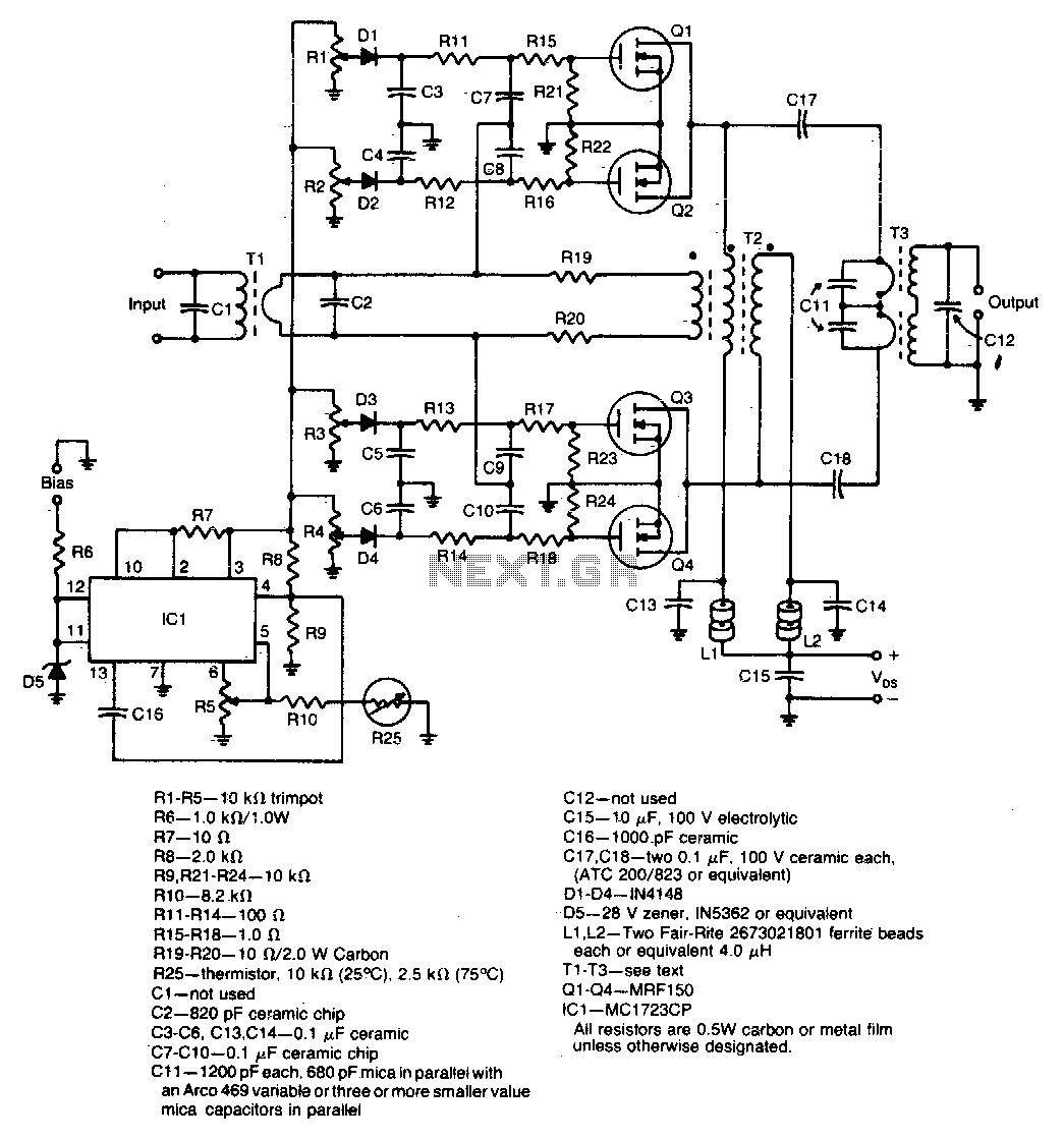 hight resolution of 600w rf power amplifier