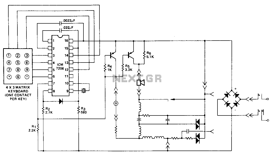 dtmf circuit : Telephone Circuits :: Next.gr