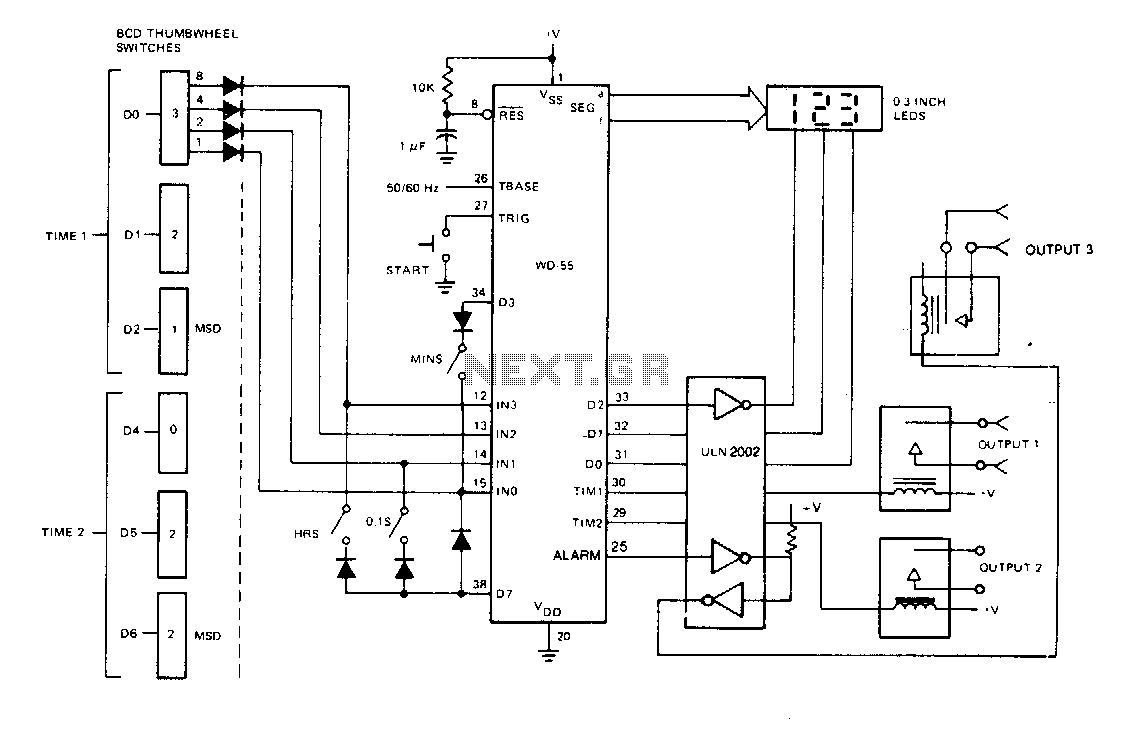 > meter counter > timer circuits > thumbwheel programmable