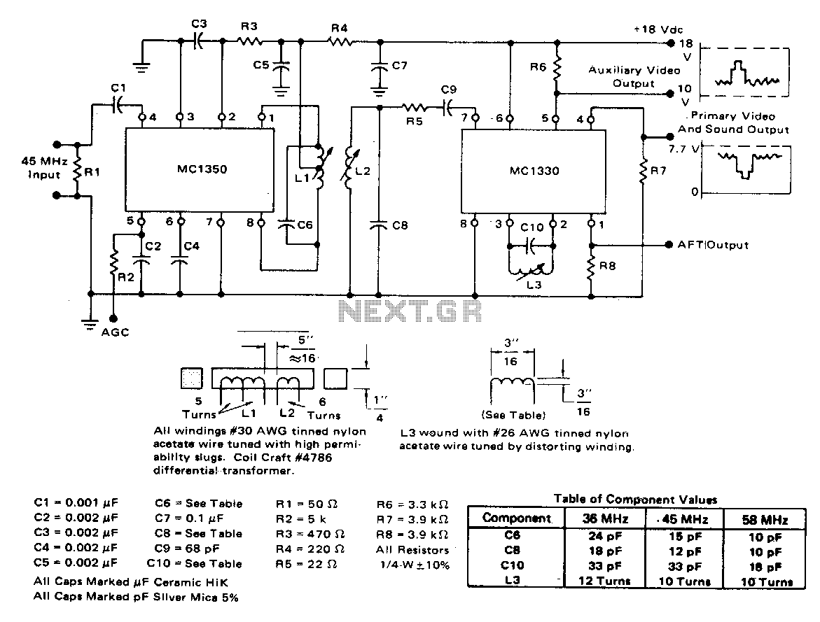 hight resolution of video amplifier and video detector the circuit