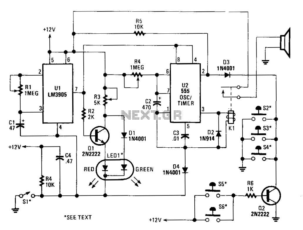 car alarm circuit : Automotive Circuits :: Next.gr