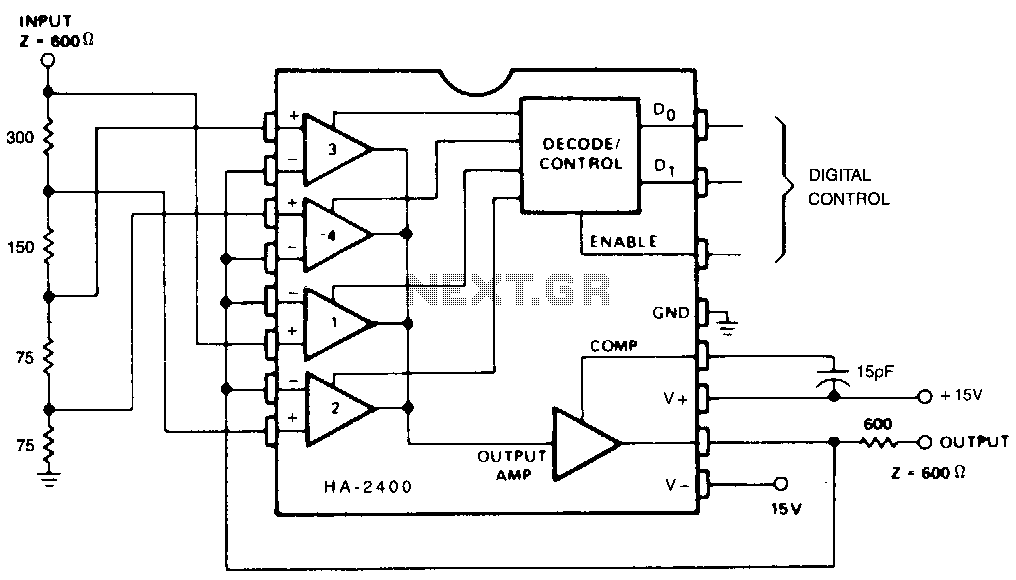 Programmable-attenuator under Audio Filters Circuits