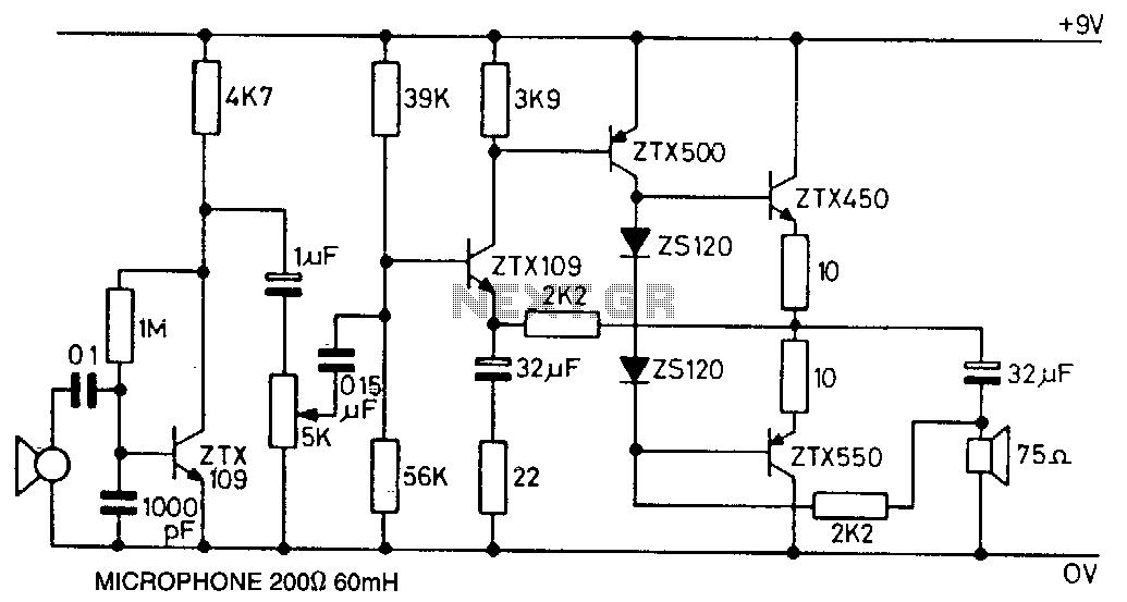 microphone circuit : Audio Circuits :: Next.gr