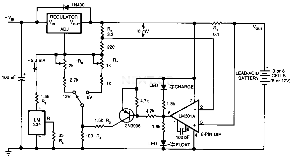 Lead-acid-battery-charger under Battery Charger Circuits