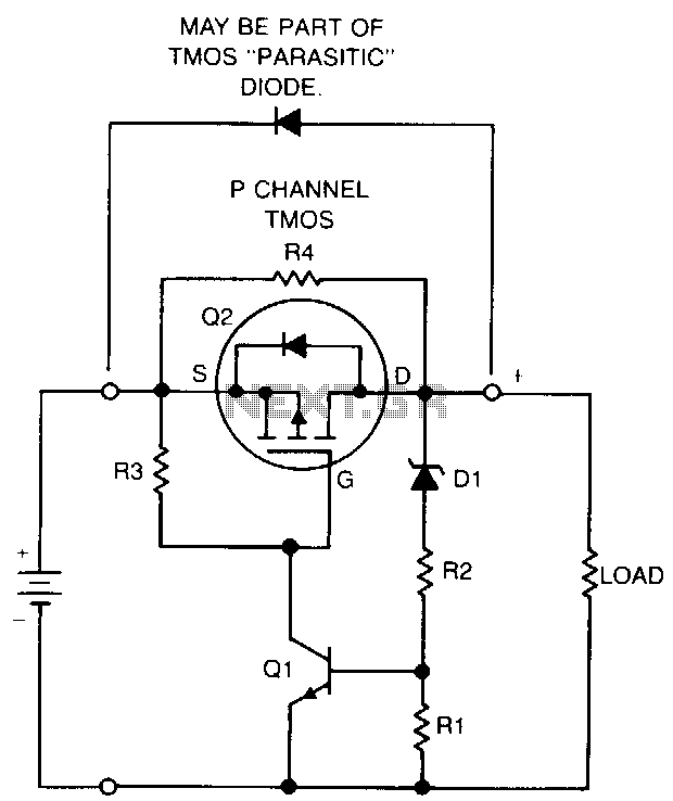 Nicad-batterv-protection-circuit under Voltmeter Circuits