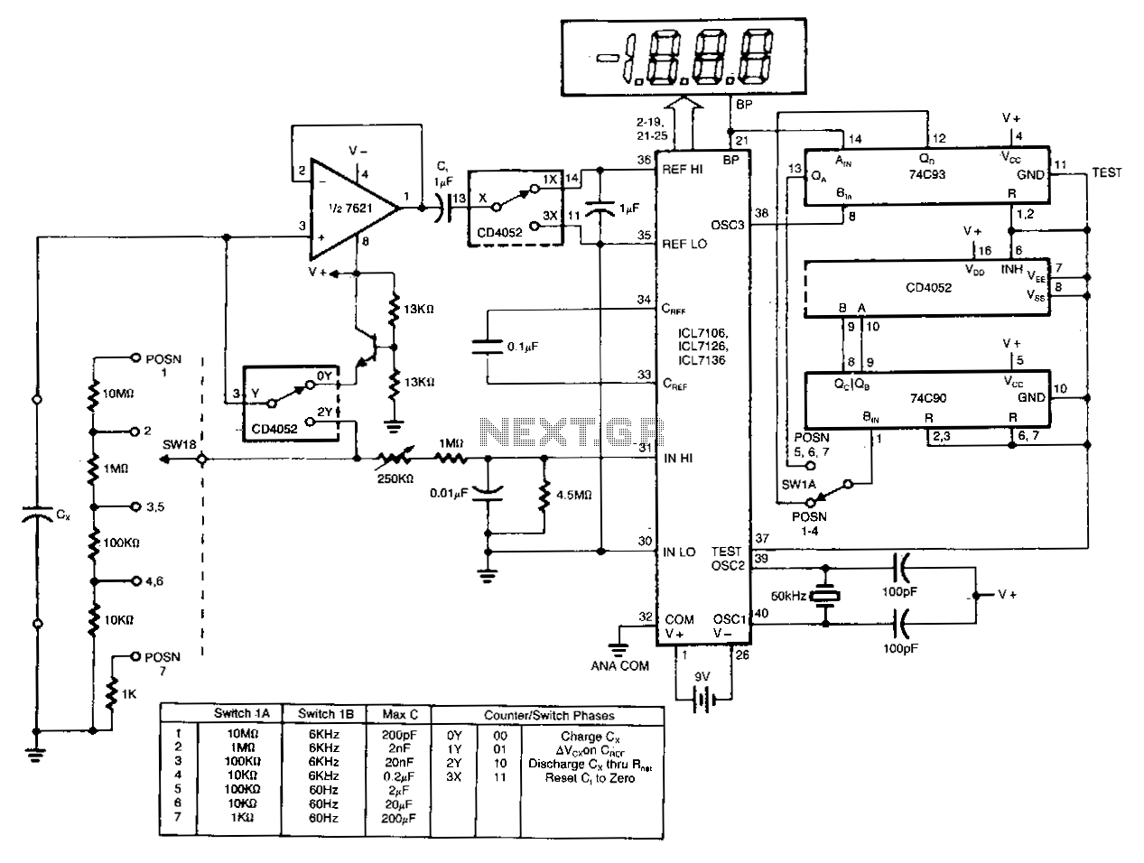 hight resolution of digital ad capacitance meter
