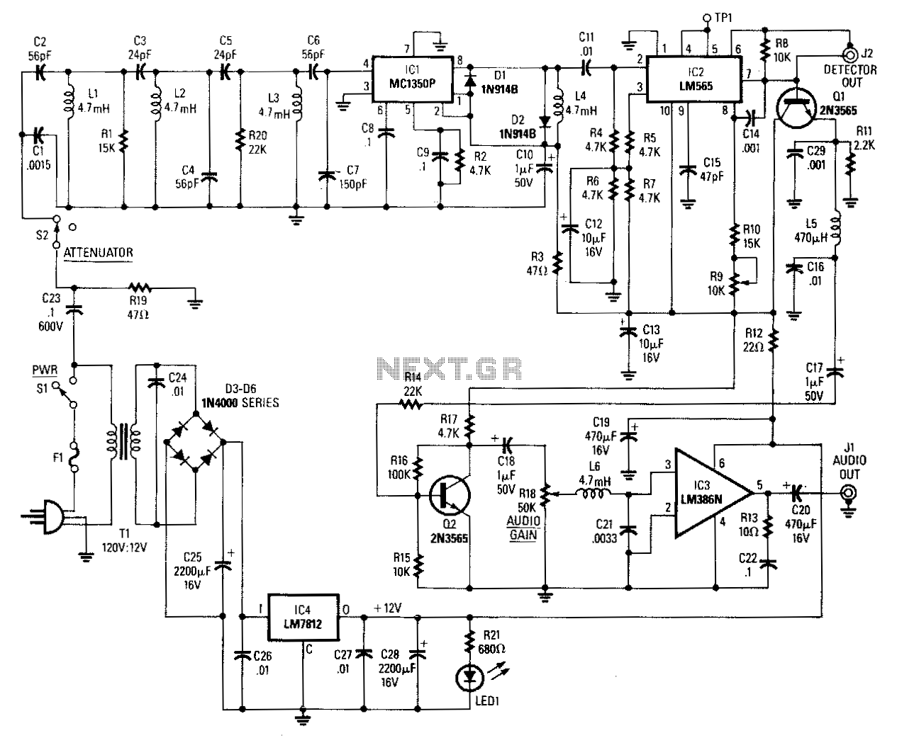 hight resolution of carrier current fm receiver