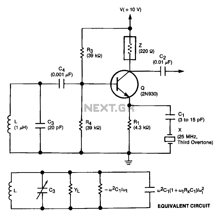 crystal oscillator circuit : Oscillator Circuits :: Next.gr