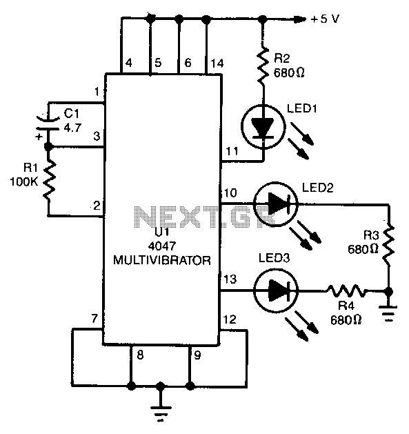Astable-multivibrator under Astable Oscillator Circuits