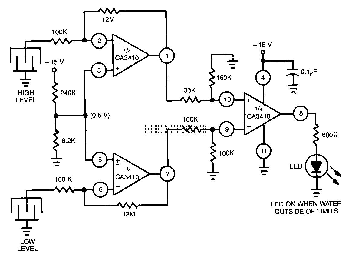 liquid sensor Circuit : Sensors Detectors Circuits :: Next.gr