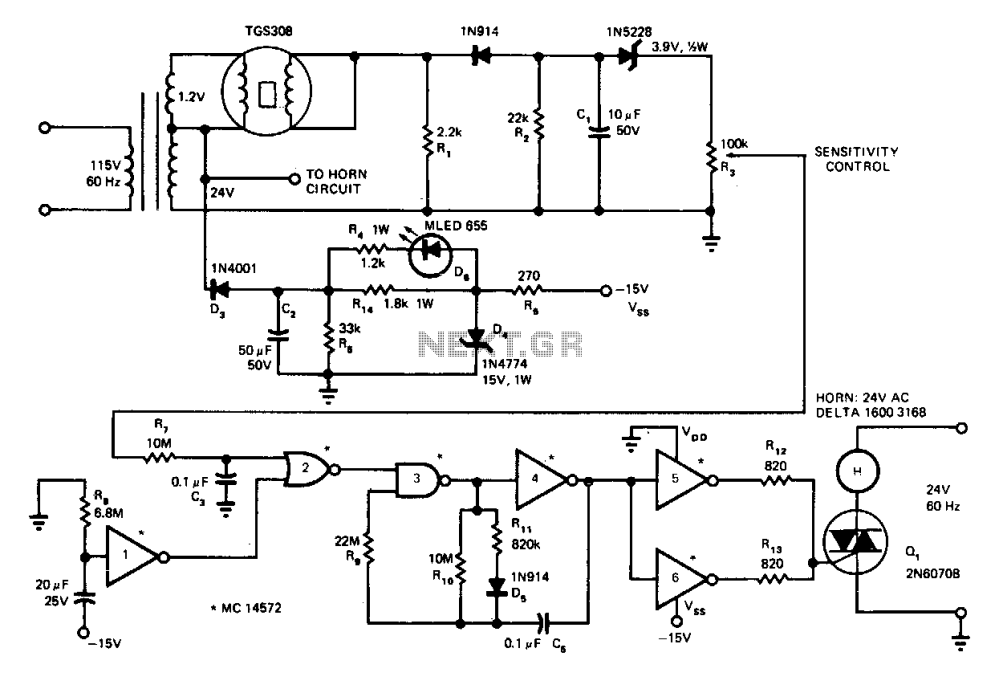medium resolution of gas and smoke detector circuit diagram tradeoficcom wiring diagram bfo metal detectors circuit diagram nonstopfree electronic circuits