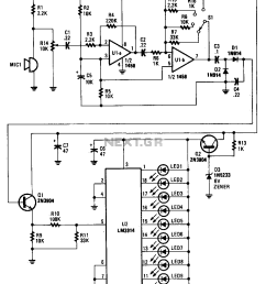 soundlevelmeter1 measuringandtestcircuit circuit diagram wiring sound level indicator circuit diagrams schematics electronic audio level meter circuit [ 945 x 1215 Pixel ]