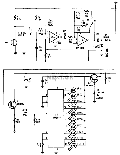 small resolution of soundlevelmeter1 measuringandtestcircuit circuit diagram wiring sound level indicator circuit diagrams schematics electronic audio level meter circuit
