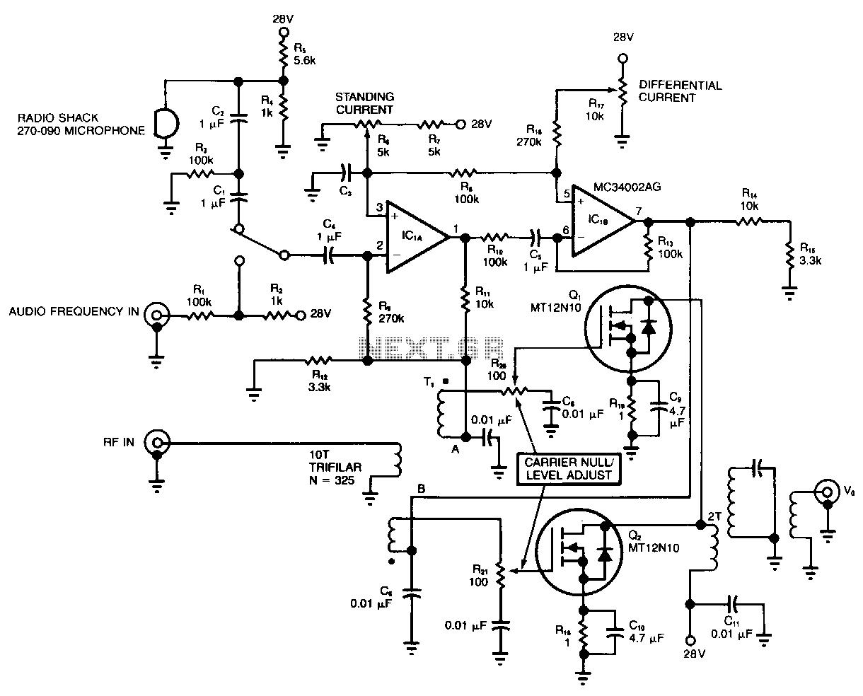 rf modulator hookup diagram lft lab digital power amplifier schematic get free image