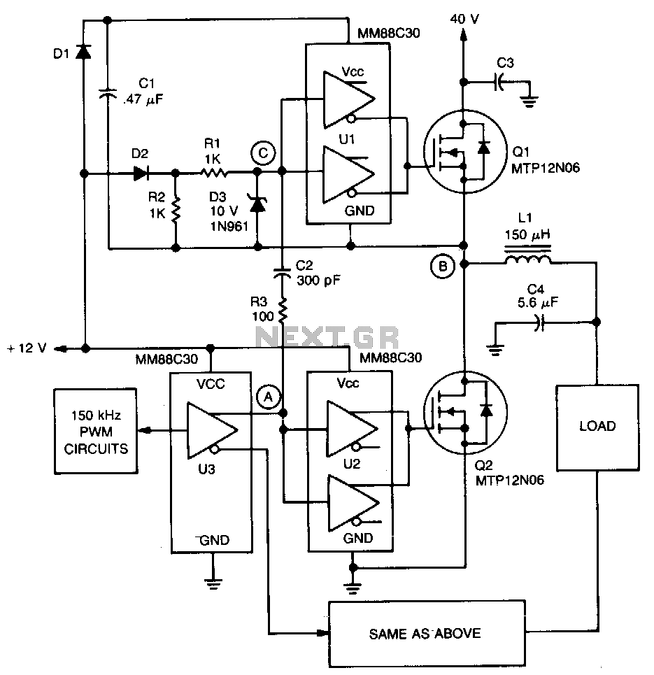 hight resolution of automations u003e servo circuits u003e pwm servo amplifier l13501 next gr rh next gr acoustat servo amp schematic dc servo amplifier schematic