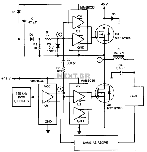 small resolution of automations u003e servo circuits u003e pwm servo amplifier l13501 next gr rh next gr acoustat servo amp schematic dc servo amplifier schematic