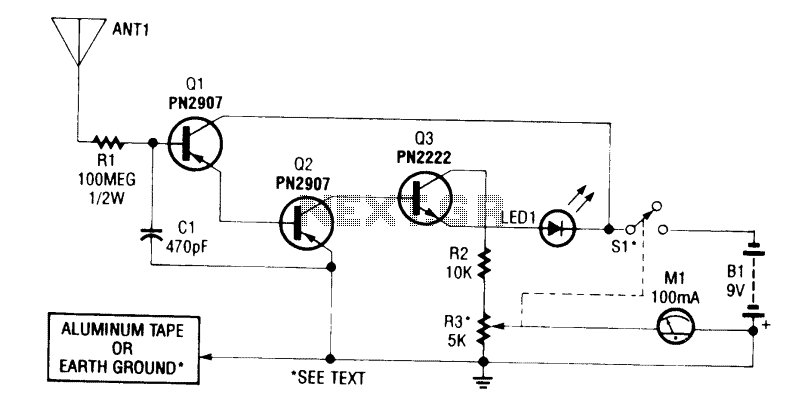 Static charge-electricity detector under Checker Circuits
