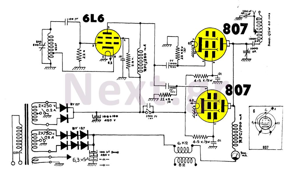 medium resolution of 100w am valve transmitter circuit