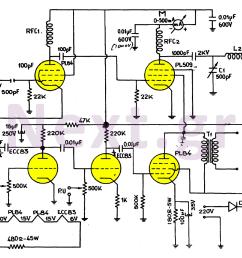 simple valve mw transmitter circuit 30w [ 1329 x 944 Pixel ]