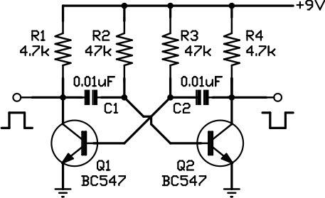square wave oscillator circuit Page 4 : Oscillator
