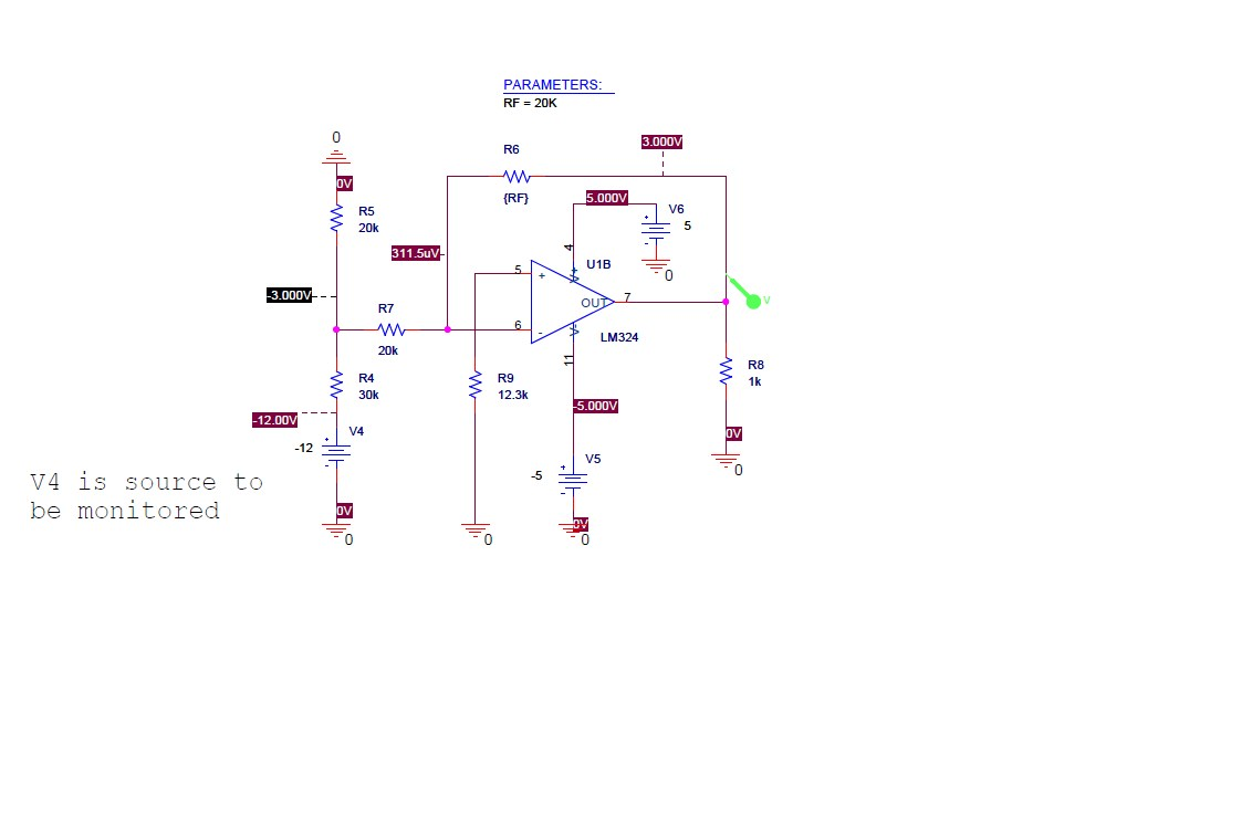 hight resolution of monitoring voltages with scaling circuits