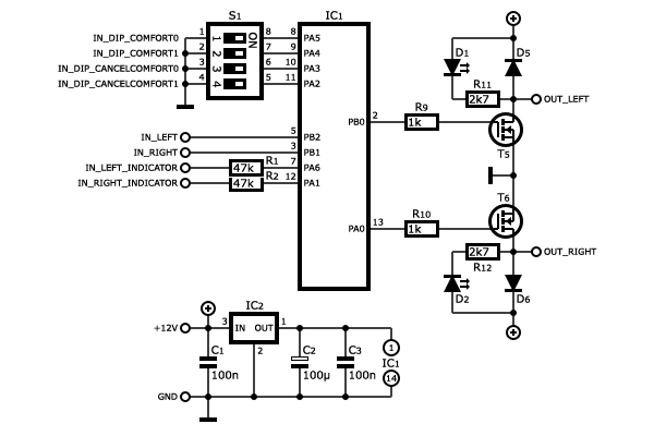 > circuits > Proximity detector using NE567 IC Switches