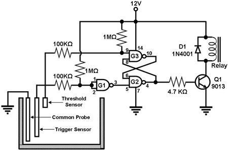 liquid sensor Circuit Page 4 : Sensors Detectors Circuits