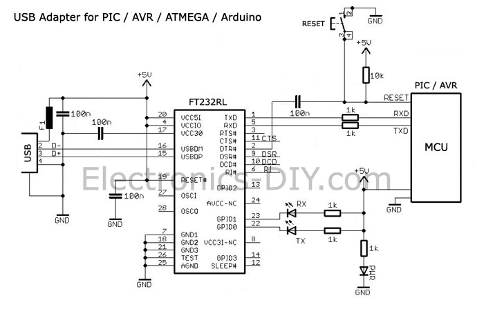 rs485 to usb converter circuit diagram what are the parts of a tree > circuits ft232rl serial adapter for pic avr atmega arduino mcus l25640 - next.gr